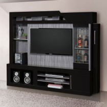Home Theater Barcelona II Carvalho TQ E Preto Edn Moveis