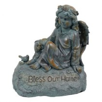Estatua Anjo Bless Your Home