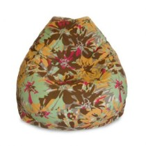 Puff  Fofao Vd Floral Marrom
