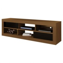 Rack Artely Chicago Imbuia e Preto Artely