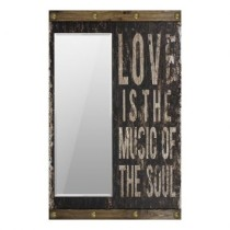 Espelho Decorativo Love Is The Music Of The Soul