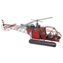 Enfeite Helicoptero Vermelho Oldway