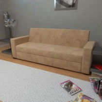 Sofa-Cama Casal Lovely Sued Bege