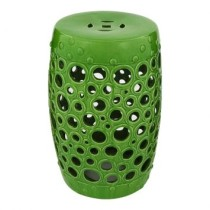Puff Bubble Redondo Ceramica Verde By Haus