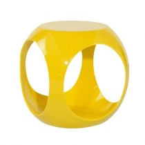 Puff Kaas Redondo Abs Amarelo By Haus