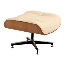 Puff Charles Eames Couro Sintetico Bege