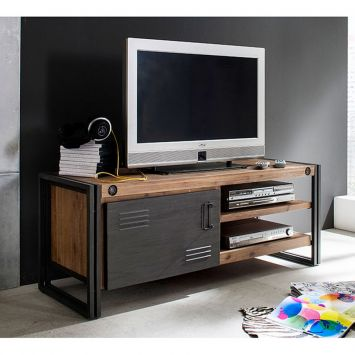 rack moderno estilo industrial outlet. Black Bedroom Furniture Sets. Home Design Ideas
