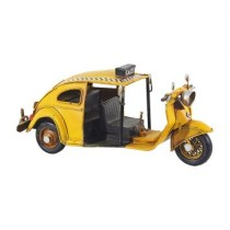 Enfeite Fusca Tuc Tuc Metal Amarelo Oldway