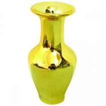 Mini Vaso Ceramica Long Dourado