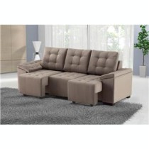 Sofa 3 lugares Bege Amazon Gant Suede Animale