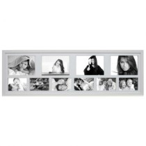 Painel Bee Collection 6 Fotos 10x15cm e 4 Fotos 15x21cm 30x100cm Branco Kapos