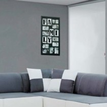 Painel Bee Collection Words Family 10 Fotos 10x15cm Preto Kapos