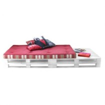 Chaise Longue Pallet Branco Acquablock Duna Bordo