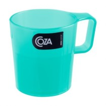 Caneca Empilhavel 250 Ml Verde Transparente Coza