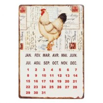 Calendario Magnetic Chicken Branco Oldway