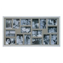 Painel de Fotos Bee Collection 43X83 Rustics 16 Fotos 10×15 Branco Kapos