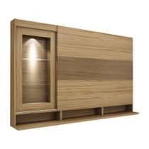 Painel Para Tv Lumiere 133277 Nogal Com Capuccino Benetil Moveis