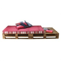 Chaise Longue Pallet Natural Cru Acquablock Duna Bordo