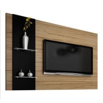 Painel Para TV Hawaii 1.60M Nogal Com Preto Tx Benetil Moveis