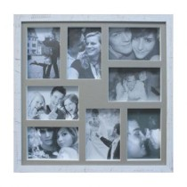Painel de Fotos Bee Collection 43X43 Rustics 8 Fotos 10×15 Branco Kapos
