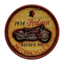 Quadro Indian Motorcycles Amarelo 40X40X5cm OLDWAY