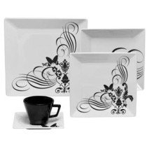 Aparelho de Jantar e Cha Oxford Porcelanas Collection Quartier Tatoo GM20-2414 com 20 Pecas