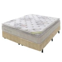 Conjunto Cama Box + Colchao Super king Americanflex Spring Up com Molas Ensacadas Multizona e One Face – 54x193x203cm