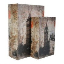 Conjunto Book Box 2 Pecas Big Ben ZD2202 Cinza