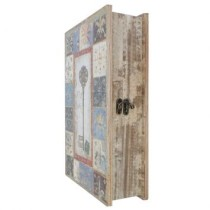 Book Box Cx De Chaves ZD2221 Creme e Azul