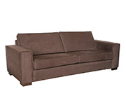 Sofa 3 Lugares Don Master Sued Chocolate 218X92X80H
