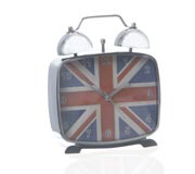 Relogio Mesa London Prata 14X12Cm