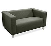 Sofa 2 Lugares Top Neo Pu Canvas Cinza