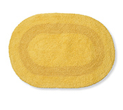 Tapete Banho Double Oval Amarelo 50X70Cm