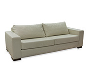 Sofa 3 Lugares Syme Couro Natural Bege 210X90X82