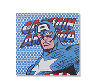 Quadro Canvas Led Marvel America 40X40Cm