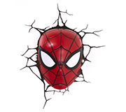 Luminaria 3D Parede Marvel Mascara Spider