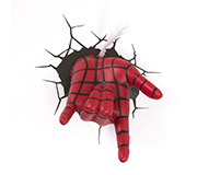 Luminaria 3D Parede Marvel Mao Spider